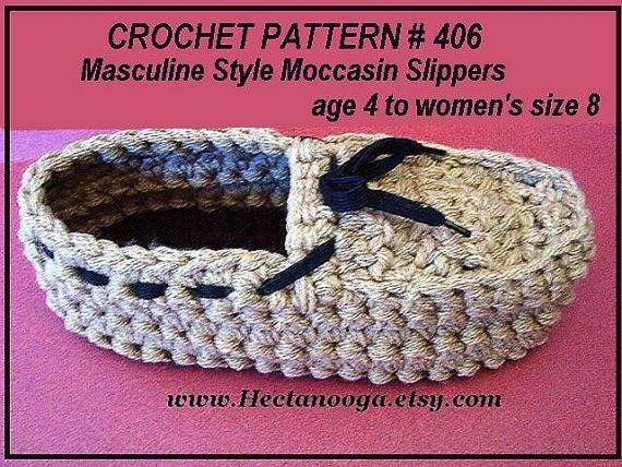 Crochet Pattern slippers num 406. TODDLER, YOUTHS, Masculine ...
