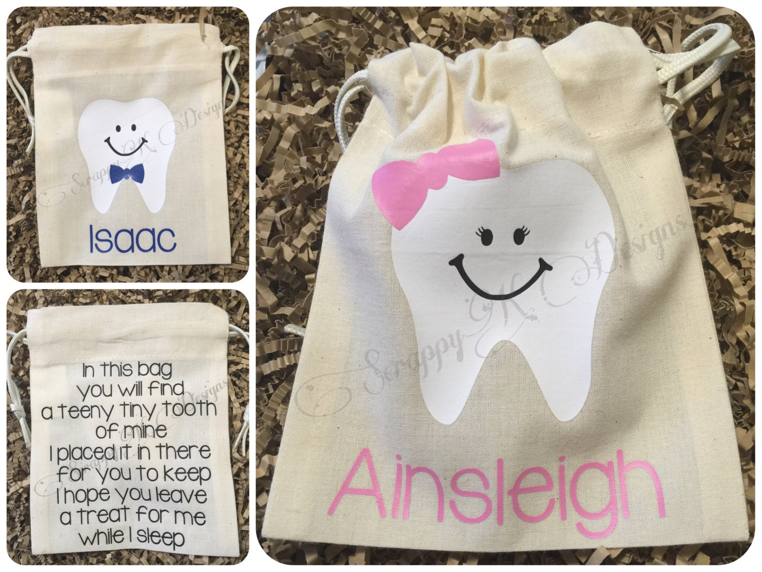 Personalized Tooth Fairy Bag Tooth Fairy Pouch Tooth Fairy