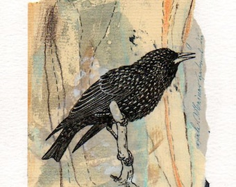 Original paper collage art