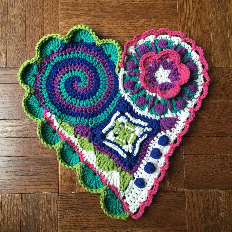 Freeform Crochet Pattern / Tutorial: Crochet Heart Pattern, Freeform ...