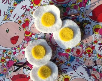 Egg hair clips