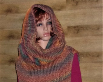 over size knit cowl sweater