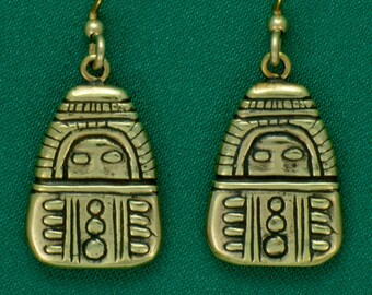 Columbia River Gorge Amulet~ Bronze~ Earrings
