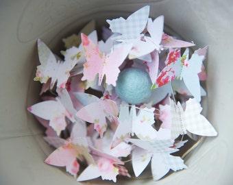 Paper Garland, Butterfly Garland, Wedding Garland, Birthday Party Decor,  Pink, Baby