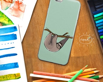 Sloth Phone Case Sloth iPhone Sloth Samsung Sloth iPad Cute Sloth Gift Sloth Gifts Sloth Design For Sloth Lovers Sloth Fans Sloth