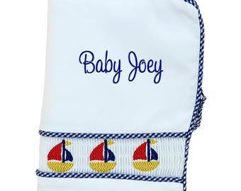 Baby Shower Gift | Personalized Photo Album | Baby Memory Book | Custom Baby Book | Monogrammed Baby Book | Infants Photo Album Sailboat