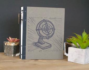 Vintage Fan Journal/Sketchbook (Brown)