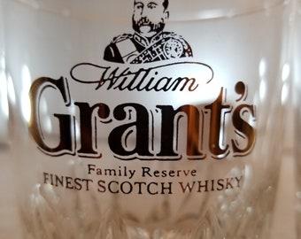 Set of 2 Grant's, Grants Finest Scotch Whiskey Glasses, Glass. Bar, Whisky