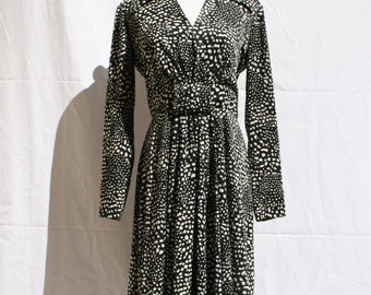 I.Magmin Polyester Black and White Dress