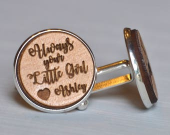 always your little girl cuff link, tie tack, lapel pin, father of the bride gift