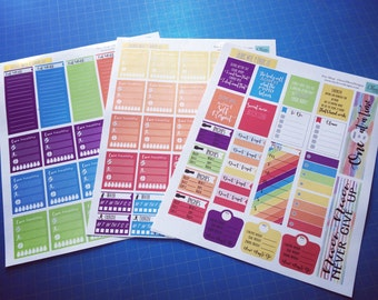 Eat Well & Live Fit planner stickers