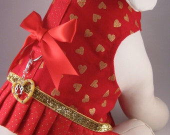 "Dog Harness Vest ""Hearts of Gold"""