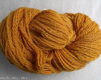 "Yarn ""Susu Cipolli"" hand-spun, 2 ply - Merino, nature contact coloring colored onion-skin"