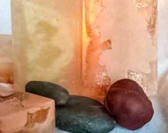 "Savon ""gourmandise"" coco/ricin/cacao/patchouli/loofah naturel et bio."