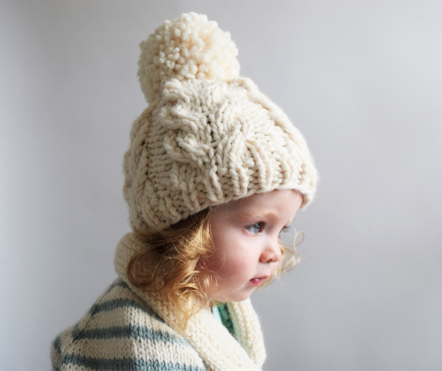 Cable Knit Hat Pattern // Cabled Hat Pattern // Cable Hat Pattern ...