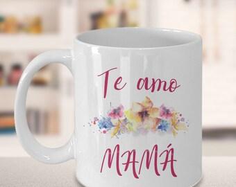 Regalo para Mama te Amo Taza Dia de las Madre Tazas de Flores