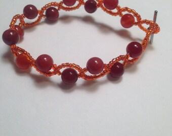 Reiki Infused Fire Agate Bracelet