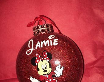 Personalized Minnie Mouse Christmas Ornament