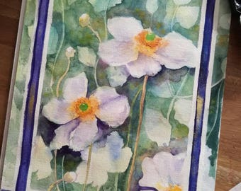 Watercolor flower, watercolor painting, painting flower, gallery wall art, floral art, décor