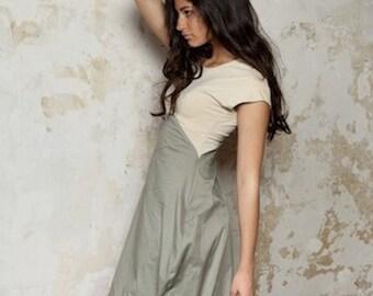 Asymmetrisches Jersey Kleid/ mit Stickerei/ verspielt/ Frühling - Shadow games