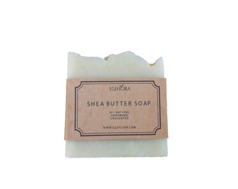 Handmade Cold Process Shea Butter Soap , Unscented , Natural, Best Turkish Olive Oil Used No Chemicals SLS Paraben Free