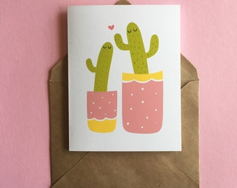 Mom & me cactus Card
