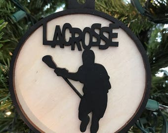 Lacrosse Male Ornament, Car Charm, Rear view mirror charm