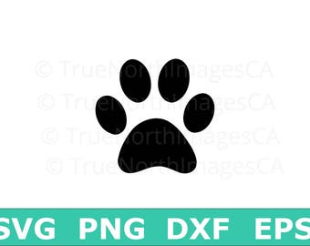 Paw SVG / Paw Print SVG  / Paw Print Clipart /  Paw Print Clip art / Paw Print Vector / Dog SVG / Animal svg / Files for Cricut / Silhouette