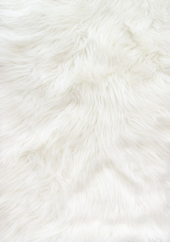 shaggy white long pile faux fur fabric by the yard 60. Black Bedroom Furniture Sets. Home Design Ideas