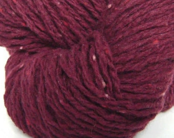 Red Wine - 200 yards wool/nylon Eco-friendly (reclaimed) yarn
