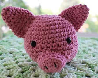 Piglet Lovey Security blanket 100% Cotton