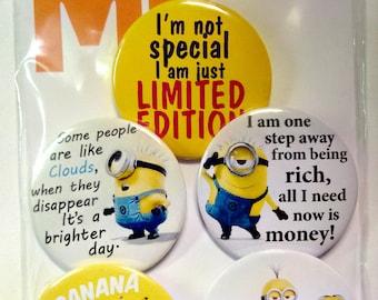 Despicable Me Pins, Fridge Magnets, Minions Badges, Despicable Me Pinback  Buttons