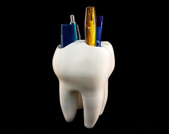 Tooth pen holder   Dentist gift   Molar   Fun gift   toothbrush holder   Tooth fairy   Desk organizer   Tooth pencil holder