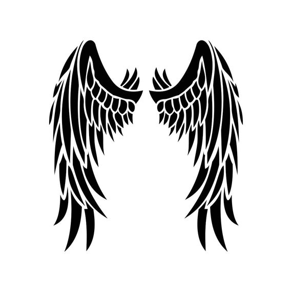 angel wings graphics svg dxf eps png cdr ai pdf vector art rh etsy com vector image angel wings illustrator vector angel wings