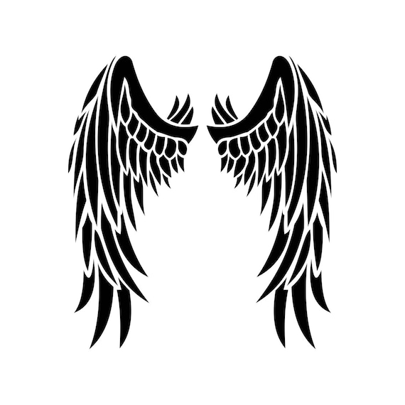 angel wings graphics svg dxf eps png cdr ai pdf vector art rh etsy com angel wings vector clip art angel wings vector free