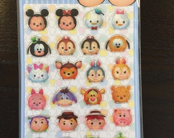 Disney Tsum Tsum Character Stickers. 28 pieces