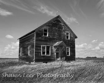 Little House on the Prairie Photograph Central North Dakota