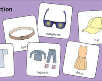 Clothes Collection Picture Cards