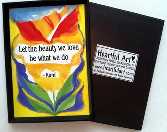 Let the Beauty We Love RUMI Magnet Inspirational Quote Motivational Yoga Meditation Women Support Gift  Heartful Art by Raphaella Vaisseau