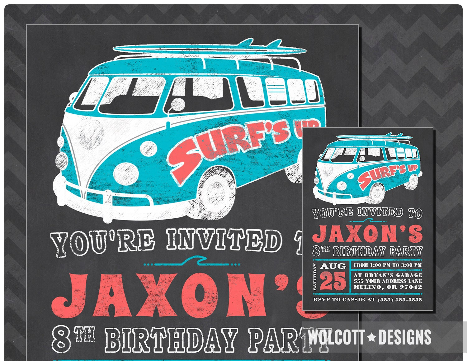 Beach Party Invitation Summer Party Surf\'s Up Birthday