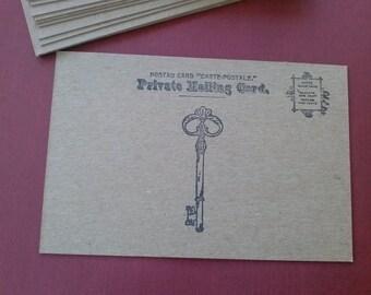 Chipboard Postcards, Postcard Blanks, set of 20, 4x6 inch, wedding favor