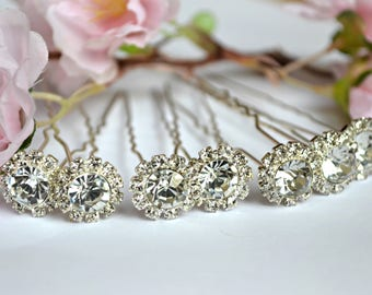 Wedding Bridal Hair Pins Crystal Clear Hair accessories Wedding jewelry Bridal gift hair pieces diamond