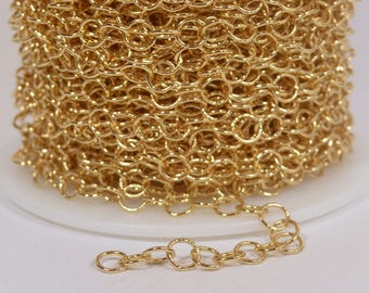 Medium Circle Chain - Gold Plated - CH107 - Choose Your Length