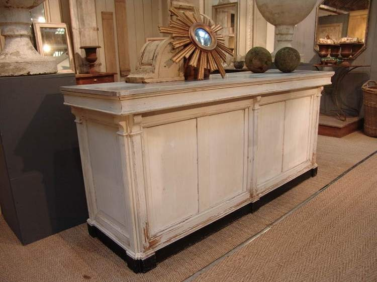 🔎zoom - French Antique Repro Check Out Counter/ Reception Desk/ Cash