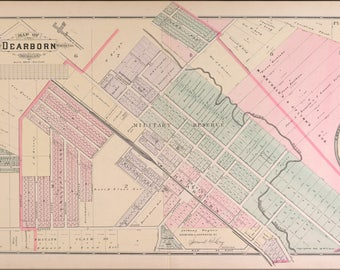 Poster, Many Sizes Available; Map Of Dearborn Michigan 1891