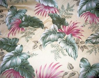 Hawaiian floral print fabric
