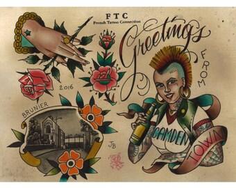 Tattoo Flash CAMDEN PUNX Julien BRUNIER