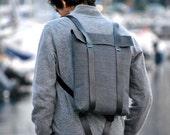Lightweight backpack, canvas knapsack, work backpack, men canvas backpack, mens rucksack, Custom rucksack 201