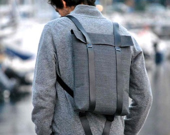 Lightweight backpack, canvas knapsack, work backpack, men canvas backpack, mens rucksack, Custom rucksack 201