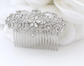 Silver Bridal Comb, Rhinestone Comb, Bridal Comb Crystal, Wedding Crystal Hair Comb, Wedding Accessory, Kali Crystal Comb